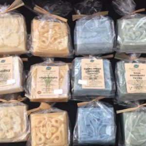 array of different soaps in plastic wrappers